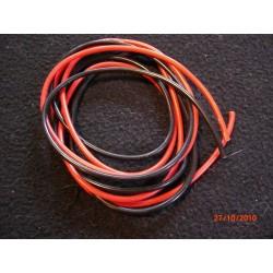 Silicoon 16 AWG snoer Rood/Zwart