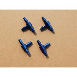 JL 3 Weg Aluminium Koppeling voor 6 mm slang