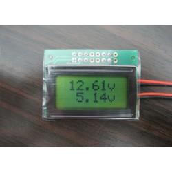 Onboard  2 kanaal LCD  Volt Meter