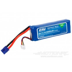 E-flite Lithium Polymer Batterij 3 S , 11,1 Volt ,2200mAh ,30C