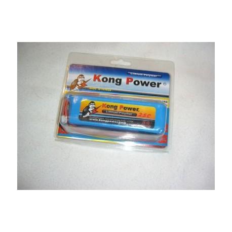 Kong PowerLithium Polymer Batterij 3 S , 11,1 Volt 1800mAh ,20C