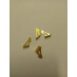 Haoye kleine rudder horns van aluminium ( 4 pcs)