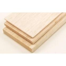 Balsa Hout Plank 1 mm dikte , lengte 100 cm , breedte 10 cm