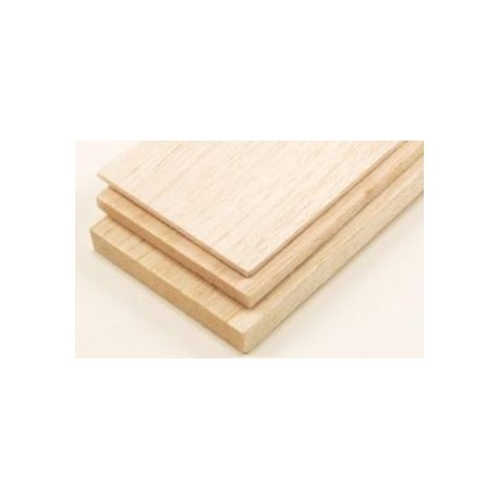 Balsa Hout Plank 3 mm dikte , lengte 100 cm , breedte 10 cm